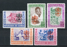 Rep Guinea 1962. Yvert 78-82 ** MNH. - Guinea (1958-...)