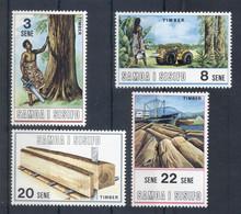 SAMOA * 1971 * Complete Set 4 Stamps * MNH** Timber Industry - Mi.No 232-235 - Samoa
