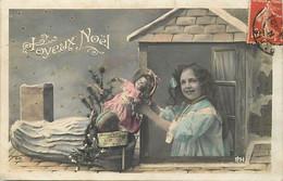 Themes Div-ref FF519- Jouets -jouet - Enfants - Fillette Et Sa Poupée - Joyeux Noel  - - Games & Toys