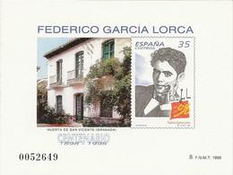 España Prueba Oficial  Edifil 65 Centenario García Lorca  1998  NL958 - 1931-Hoy: 2ª República - ... Juan Carlos I