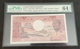 TAc20 - Central African Republic 500 Francs Banknote 1974 PMG 64 UNC EPQ P.1 - Central African Republic