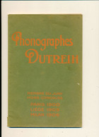 """PHONOGRAPHES """"Dutreih"""" - Répertoire Français Des Cylindres Moulés """"Dutreih"""", 1908 - Frankreich"""