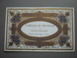 BRUXELLES - FOSSE AUX LOUPS - A. VANDERSMISSEN - FABRIQUE DE DENTELLES - CARTE VISITE PORCELAINE 10.5 X 6.5 - Sin Clasificación
