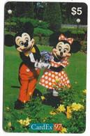Norway, Cardex 97, $5 Prepaid Phone Card, Limited Edition, # Norway-1 - Disney