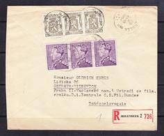 SK 21-59 R-LETTER FROM BELGIE TO CZECHOSLOVAKIA. 26.05.1948. - Brieven En Documenten