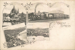 Orient Express - Berlin Budapest Constantinople - Train Zug Trein - 1900 - Postales