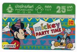 Thailand, Disney Characters, 25 Baht, Phone Card, Mint Condition, # Tailandia-1 - Disney