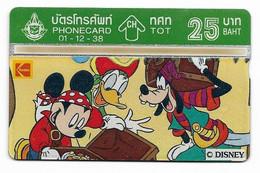 Thailand, Disney Characters, 25 Baht, Phone Card, Mint Condition, # Tailandia-2 - Disney