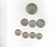 8 Pieces En Argent 50 F 1977 100 F 1984 2 F 1904/1914 1 F 1915/1916 Et 2 P 1 F 1919 - Other