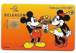 Belgium, Disney Characters, 200 BEF, Chip Phone Card, Mint Looking Condition, # Belgica-1 - Disney