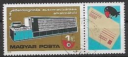 UNGHERIA 1978 AUTOMATIZZAZIONE DELLE LETTERE YVERT. 2624 USATO VF CON BANDELLA - Used Stamps
