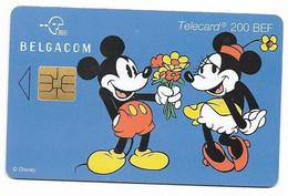 Belgium, Disney Characters, 200 BEF, Chip Phone Card, Mint Looking Condition, # Belgica-2 - Disney