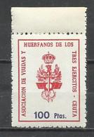 2505J-SELLOS FISCAL NUEVO MNH** HUERFANOS Y VIUDAS 3 EJERCITOS,LOCAL CEUTA,PROVINCIA DE ESPAÑA NORTE DE AFRICA.ESCASO.SP - Fiscales