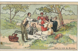 CHROMO CHOCOLAT FRANCOIS MEUNIER - PARIS DANS LE BOIS DE MEUDON 1900 - Menier