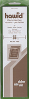 Hawid Mounts - 210 X 55 Mm - Black - 25 Strips Per Pack - Taschine