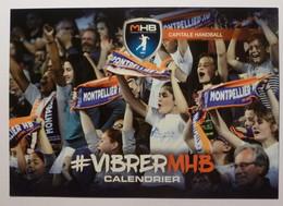 HANDBALL - MHB Montpellier Méditerranée - Supporter Avec écharpe - Saison 2016 - 2017 - Carte Publicitaire - Balonmano