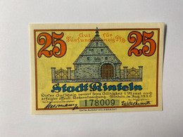 Allemagne Notgeld Rinteln 25 - Collezioni