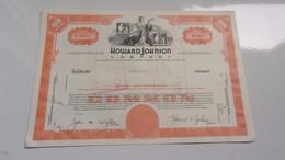 HOWARD JOHNSON (USA) - Non Classés