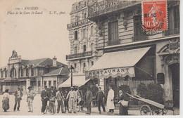 CPA Angers - Place De La Gare St-Laud (très Jolie Animation) - Angers