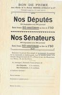 """1901 / Remise Sur L'achet De Livre """"Nos Députés"""" 581 Biographies Ou """"Nos Sénateurs"""" 300 Biographies - Frankrijk"""