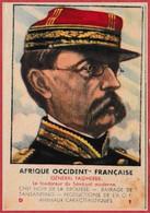 Général Faidherbe. Le Fondateur Du Sénégal Moderne. Afrique Occidentale Française. Jeu De Carte Des Familles De L'AOF. - Kaufmanns- Und Zigarettenbilder