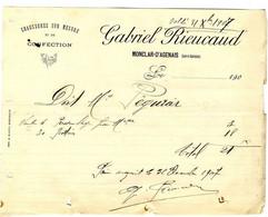 47  MONCLAR D AGENAIS   CHAUSSURES SUR MESURE   GABRIEL RIEUCAUD  -   FACTURE 1907 - Kleding & Textiel