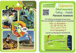 """Fiche Touristique Visites Passion - Kap'oupa Kap - """"les Pharadères"""" - Eus [66] - Sammelkarten, Lernkarten"""