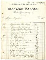 47  MONCLAR D AGENAIS   ROBES ET MENTEAUX  -  ELEONORE VASSAL    -   FACTURE 1907 - Kleding & Textiel