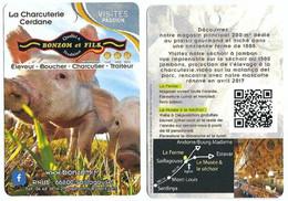 Fiche Touristique Visites Passion - La Charcuterie Cerdane - Saillagouse [66] - [porc - Cochon] - Sammelkarten, Lernkarten