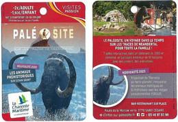 Fiche Touristique Visites Passion - Paléosite - Saint-Césaire [2020] - Nouveauté : Animaux Préhistoriques Sur écran - Sammelkarten, Lernkarten