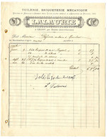 47  MONCLAR D AGENAIS  A CHASSY  -  TUILERIE BRIQUETERIE MECANIQUE  -  LALAURIE   -   FACTURE 1906 - Frankrijk