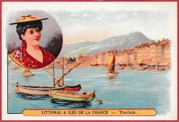 Toulon, Var. Série Littoral & Iles De La France. Paillettes Maire. Pharmacie. Paris. - Kaufmanns- Und Zigarettenbilder