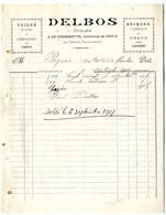 47  LA CASSENOTTE  COULX  PAR VERTEUIL  -  TUILES   -  DELBOS  TUILIER    -   FACTURE 1907 - Frankrijk