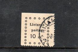 LITUANIE 1919 O - Lithuania