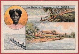 Le Congo Français. Série Sur Les Colonies Française. - Kaufmanns- Und Zigarettenbilder