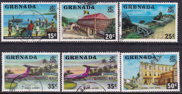 GRENADA 1975-78 SG 658-62 Part Set Used (5 Stamps Of 20, 25c In Both Perfs) - Grenada (1974-...)