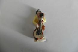 Fève Brillante En Porcelaine - La Contrebasse - Contrebassiste Musique Musicien - Instruments De Musique - Fèves