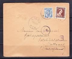 SK 21-70 LETTER FROM BELGIE TO GERMANY. 09.10.1943. - Brieven En Documenten