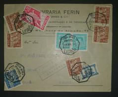 Portugal 1938, Zensur Brief MiF LISBOA Gelaufen ZARAGOZA - 1910-... République