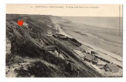 04671-LE-14-VIERVILLE-sur-MER-La Plage (côté Ouest) Vue Du Guérillon - Andere Gemeenten