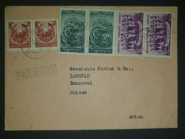 Rumänien, Ausland Flugpostbrief MiF Mit Aufbrauchprovisorium Gelaufen Schweiz - Covers & Documents