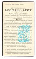 DP Oorlogsvluchteling ? 40-45 Leon Hillaert ° Oudegem Dendermonde BE 1880 † Hornburg DE 1941 X Adolfine Kintaert - Andachtsbilder