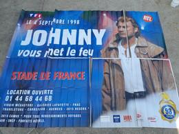 Johnny Vous Met Le Feu, Affiche 4X3m, Stade De France 1998, HALLYDAY - Posters