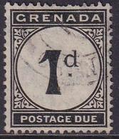 GRENADA 1921 SG D11 1d Used Postage Due Wmk Mult.Script CA CV £1.00 - Grenada (...-1974)