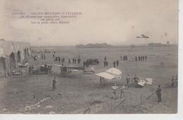 CPA Angers - Grand Meeting D'Aviation - De Mumm Sur Monoplan Antoinette En Plein Vol - Sur La Piste, Deux Blériot - Angers