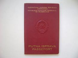YUGOSLAVIA / JUGOSLAVIJA - PASSPORT ISSUED IN 1954 IN THE STATE - Historische Dokumente