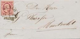 Nederland - 1854 - 10 Cent Willem III 1e Emissie Op Omslag Van HRF-B VENLO Naar Maastricht - Storia Postale