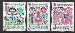 UNGHERIA 1979 ANNO INTERNAZIONALE DEL FANCIULLO YVERT. 2647-2649 USATA VF - Used Stamps