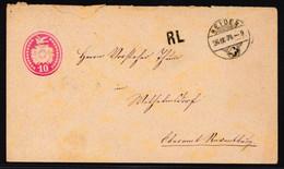 Tüblibrief Von 1874 Gelaufen Von Heiden Nach Wilhelmsdorf Bei Ravensburg DE - Stamped Stationery