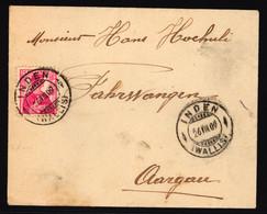 120 Auf Brief Gelaufen Von Inden Wallis Nach Fahrwangen - Briefe U. Dokumente